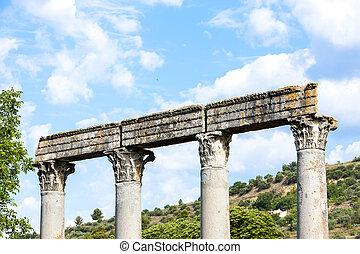close up of Roman Temple, Riez, Provence-Alpes-Cote d'Azur, Fra