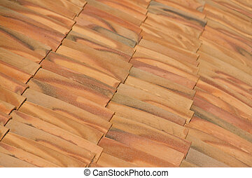 Close-up of roof tiles background