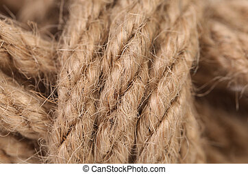 Close up of rope as background.