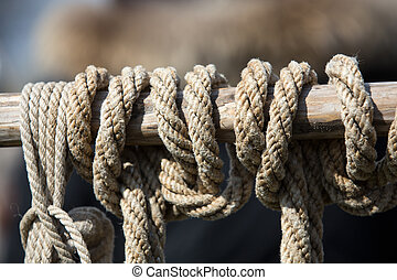 Close-up of rope with