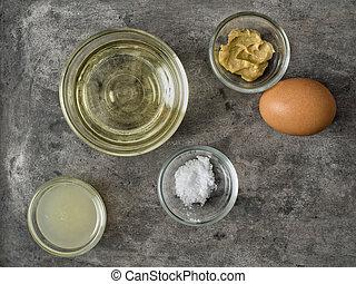 rustic homemade mayonnaise ingredient