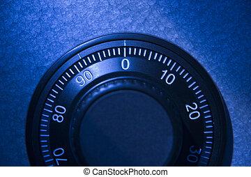 Close-Up Of Safe Dial