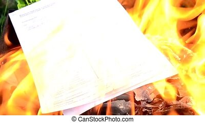 Close-up of sale agreement, contract, paperwork, paper...