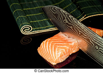 salmon - close up of salmon