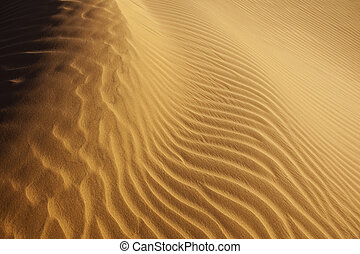 close-up of sand pattern in the desert