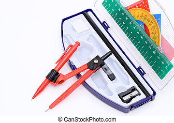 Close up of school supplies