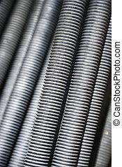 Close up of screws.