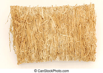 close up of shredded wheat buscuit cereal