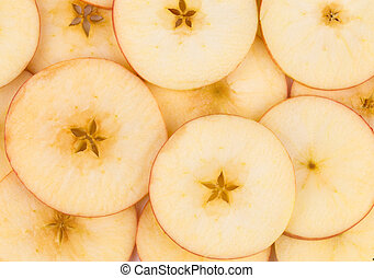 Close up of sliced apple.