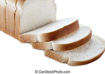 close up of sliced bread loaf