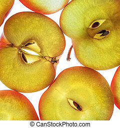 Close-up of slices of apples