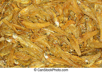 Close up of small fried fish