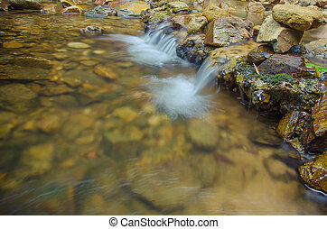Close up of small water fall