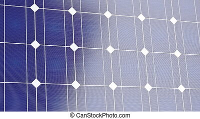 Close-up of solar panel, 3D animation