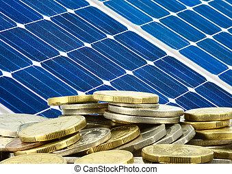 solar panel and money saving