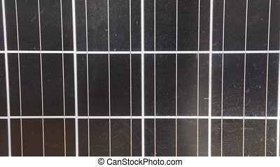 Close up of Solar Panel - Close up of a dark Solar Panel