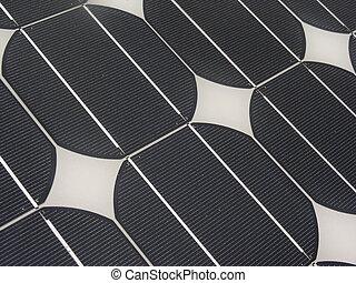 close- up of solar panel