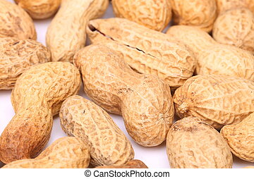Close-up of some peanuts.