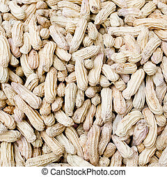 close-up of some peanuts. background