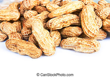close-up of some peanuts
