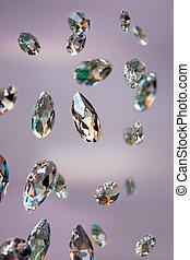 sparkling diamonds - Close up of sparkling diamonds with ...