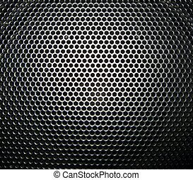 close up of speaker grill black abstract