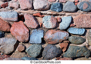 Close up of stone wall of the castle