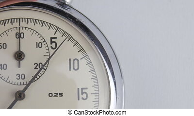 Close up of Stopwatch on a white background - Shot of ...