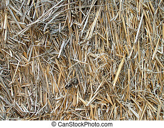 Close up of straw bales