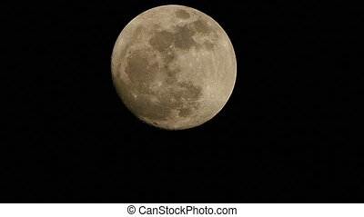 Super Full Moon in night sky - Close-up of Super Full Moon...