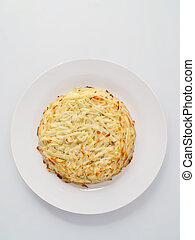 swiss potato rosti - close up of swiss potato rosti