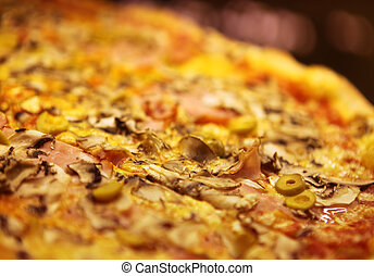 tasty pizza with olives