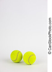 close-up of tennis balls isolated on white background -...