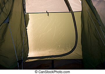 Close up of Tent
