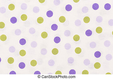 Close up of texture with orange and purple dots on white backgro