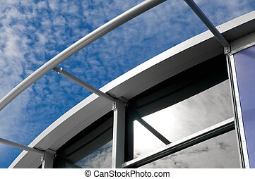 modern building exterior - close-up of the architecture on a...