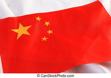 Close up of The China flag