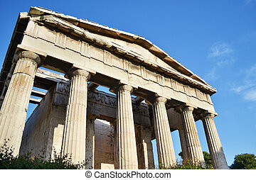 the temple of Hephaestus in Athens Greece