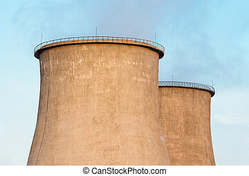 Close up of the cooling towers