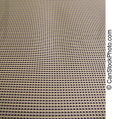 Close-up of the fabric of a patio chair
