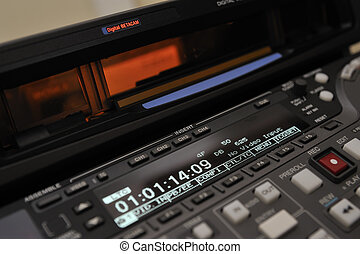 Close-up of the front panel of the digibeta recorder - Close...