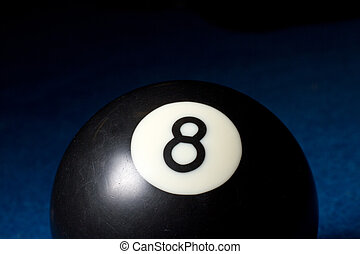 8 ball - Close up of the game winning 8 ball.