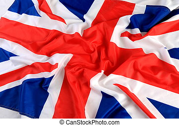 Close up of The Great Britan flag