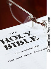 Close up of the Holy Bible