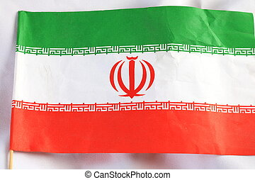 Close up of The Iran flag