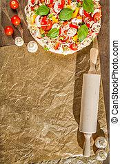 Close-up of the menu background for pizzerias No. 2