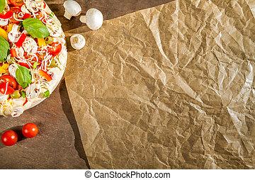 Close-up of the menu background for pizzerias No. 5