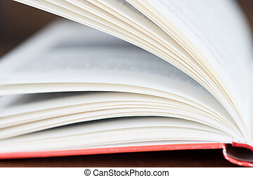 Close up of the open book