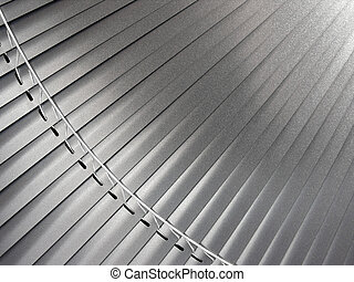 metallic blinds