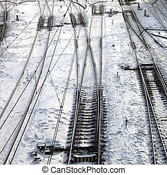Close up of the railroad tracks